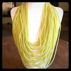 Glass Bead Statement Necklace